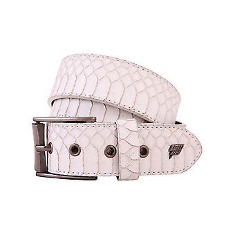 Lowlife Adder Leather Belt in White Snakeskin