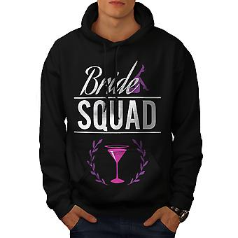 Bride Squad Men BlackHoodie | Wellcoda