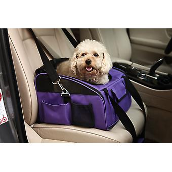 Valentina Valentti luxury dog cat puppy pet car seat carrier purple