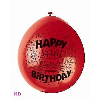 """Ballonnen HAPPY BIRTHDAY 9"""" Latex ballonnen (10)"""