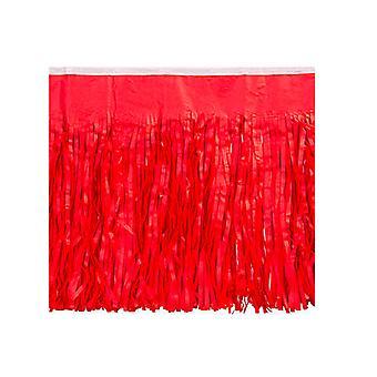 Roten Gewebe gefranst Drape
