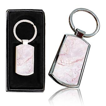 i-Tronixs - Premium Marble Design Chrome Metal Keyring with Free Gift Box (3-Pack) - 0047