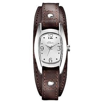 s.Oliver Damen Uhr Armbanduhr Leder SO-3101-LQ