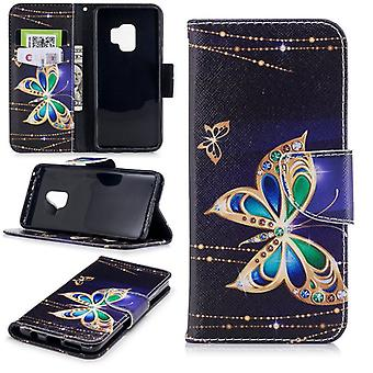 Pocket plånbok motiv 21 för Samsung Galaxy S9 G960F skydd ärm fall täcka påse nya