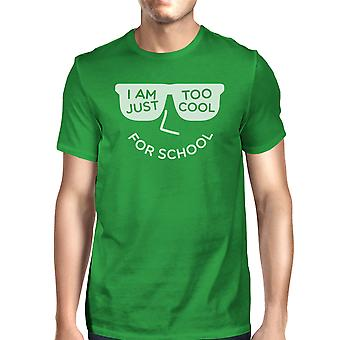 Alt for Cool til skole Herre grøn rund hals T-shirt For College