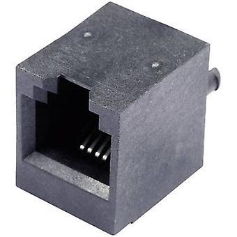 Modulaarinen rakentaminen ja bush pystysuora anturikaapeleiden pistorasia, pystysuora pystysuora nastojen määrä: 6P4C SS65600-002F musta BEL Stewart liittimet SS65600-002F 1 PCs()