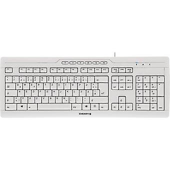 CILIEGIA Stream 3.0 USB tastiera ergonomica grigio, resistente agli spruzzi