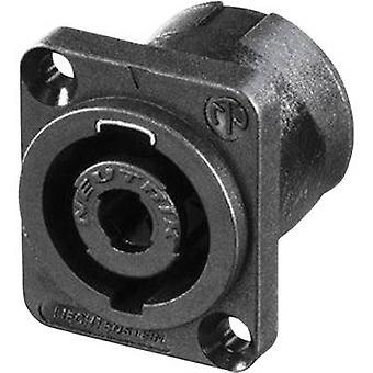 Neutrik NL4MDV Audio jack Sleeve socket, straight pins Number of pins: 4 Black 1 pc(s)
