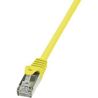 لوجيلينك RJ45 شبكات كابل CAT 5e F/UTP 2.00 م الأصفر cl. detent