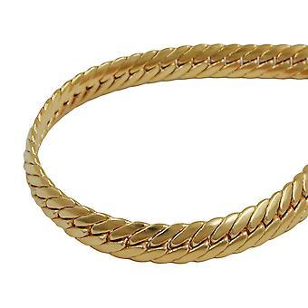 19 cm bracelet 5mm armoured oval pressed gold AMD