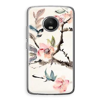 Motorola Moto G5 boîtier Transparent (doux) - fleurs Japenese