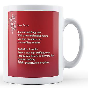 Printed mug featuring Banksy's, 'Love Poem Phone' artwork