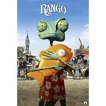 Rango Poster Rango mit Mr. Timms Teasermotiv