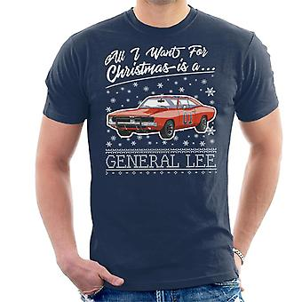 All I Want For Christmas Is A General Lee Men's T-Shirt