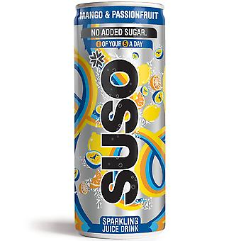 Suso Sparkling Mango and Passion Fruit Cans