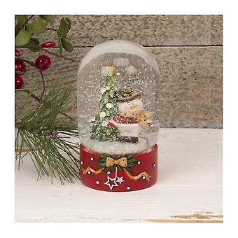 Cute Snowman Dome Shaped Snow Globe