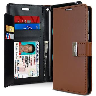 Mercury GOOSPERY Rich Diary for Samsung Galaxy S8-Brown