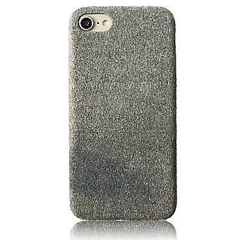 Plysj grå veske-iPhone 7/8