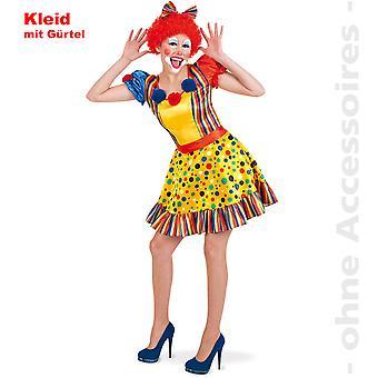 Harlequin Lady costume de clown costume Mesdames Clownlady coloré