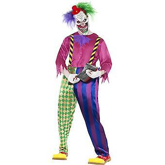"Kolorful Killer Klown drakt, brystet 42""-44"", Ben Inseam 33"""