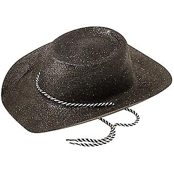 Cowboy Hat, Glitter Black