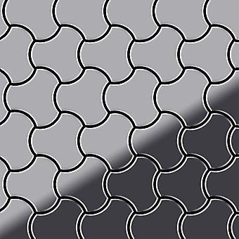 Metalowa mozaika ze stali nierdzewnej Alloy Ubiquity-S-S-M