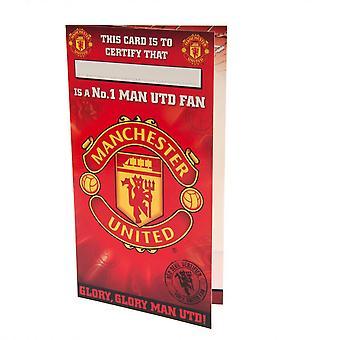 Manchester United FC Nr. 1 Fan Geburtstagskarte