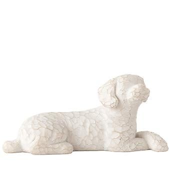 Willow Tree Love My Dog Small Lying Figurine