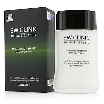 3W Klinik Homme Classic - feuchtigkeitsspendende frische wesentliche Lotion - 150ml / 5oz