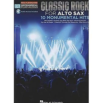 Easy Instrumental Play Along Classic Rock Alto Sax Bk W Audio Download (Hal Leonard Easy Instrumental Play-Along)