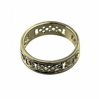 18ct Gold 8mm solid Celtic Wedding Ring Size T