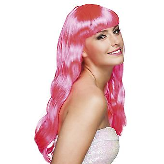 Womens Wig Chique Hot Pink Fancy Dress Accessory