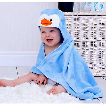 Perky Penguin baby towel gift set
