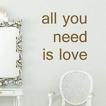 All you need is love wall quote