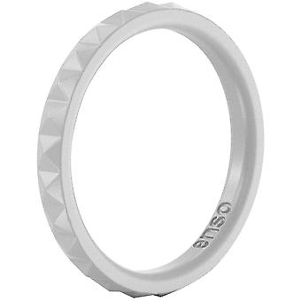 Enso Rings Pyramid Stackables Series Silicone Ring - Misty Grey