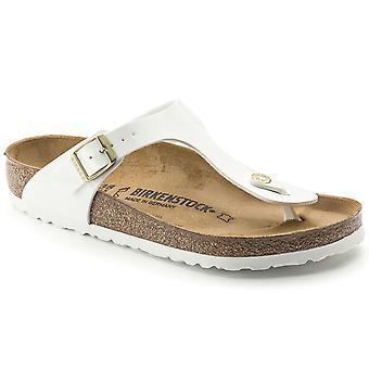 Женские Birkenstock Gizeh Birko-Flor патентных летнего отдыха ног пост сандалии