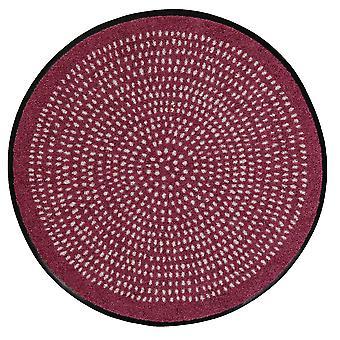 Salonloewe festade redonda Néstor redondo malva 65 cm alfombra de suciedad lavable