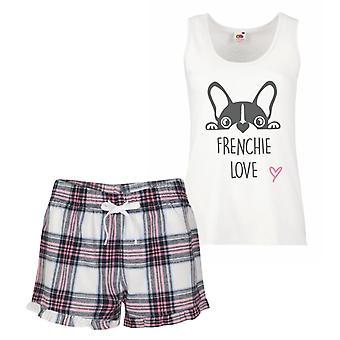 Француз любовь розовый тартан пижамы