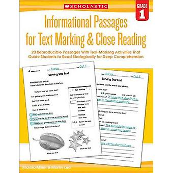 Informational Passages for Text Marking & Close Reading - Grade 1  - 20