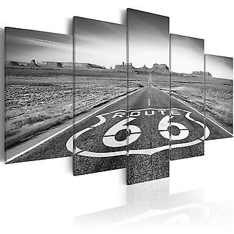 Billede - Route 66 - black and white
