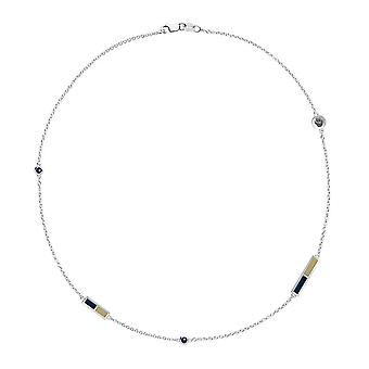 University of Pittsburgh Sapphire Chain Necklace In Sterling Silver Design by BIXLER