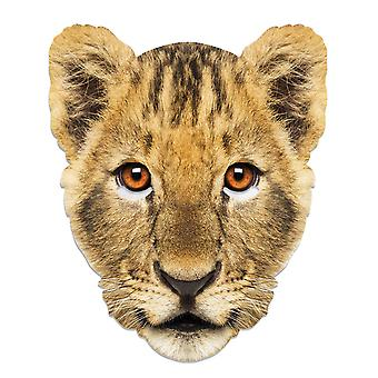Lion Cub Animal Single 2D Card Party Fancy Dress Mask