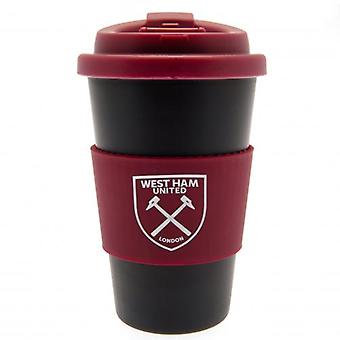 West Ham United Silicone Grip Travel Mug
