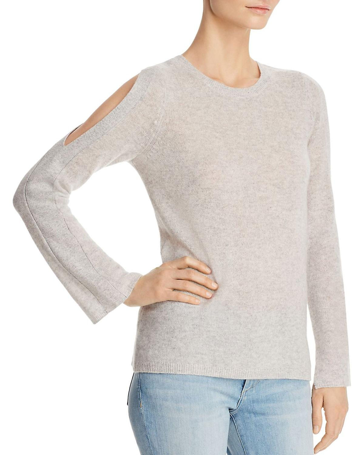 C by Bloomingdale�s Cold Shoulder Cashmere Sweater