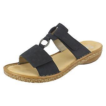 Damer Rieker justerbar mule sandaler 62885
