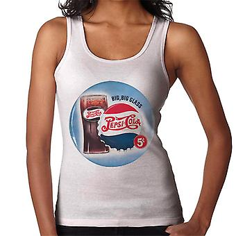 Pepsi Cola Retro Big Glass Frauen's Weste