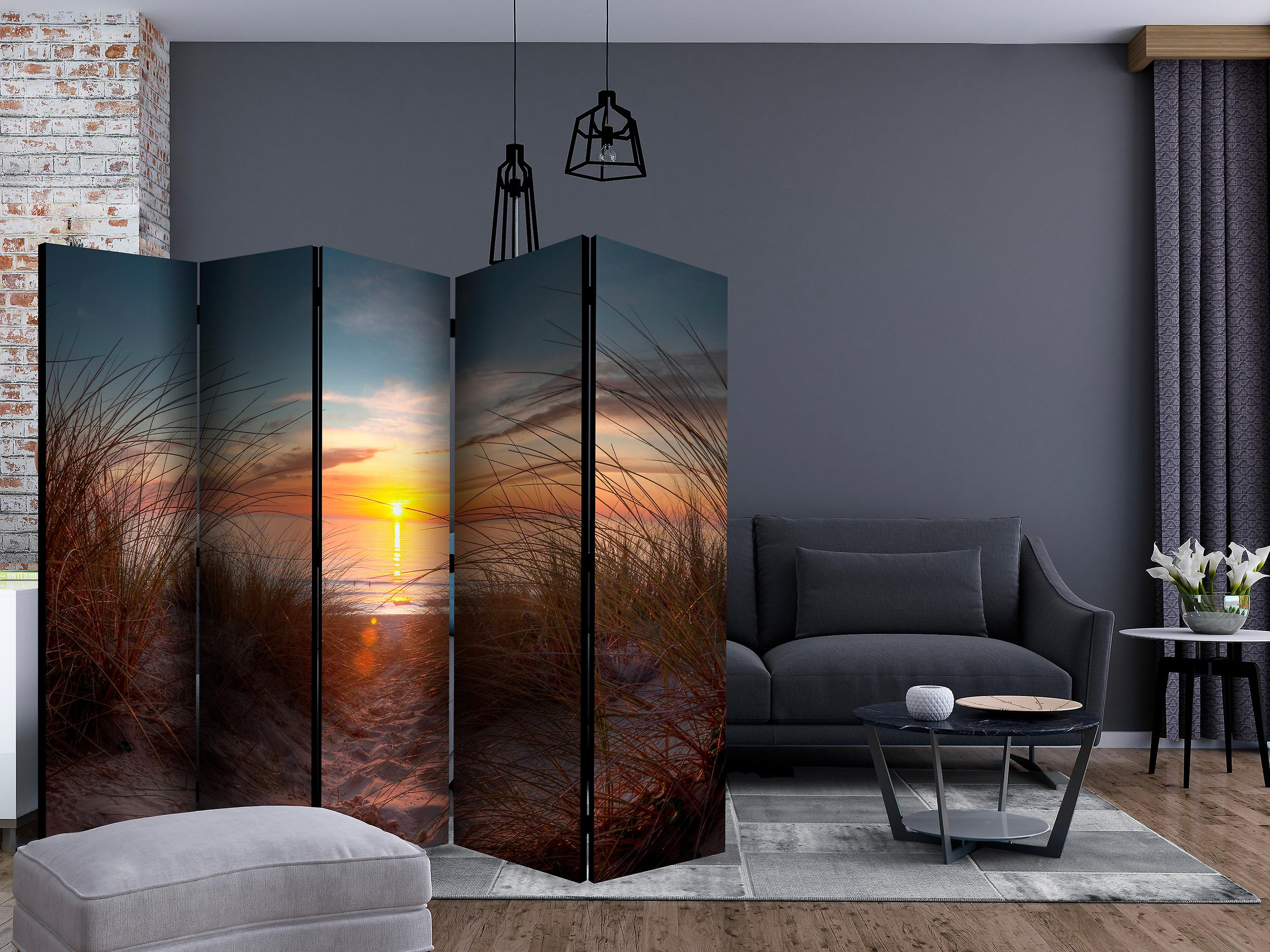 Paravent 5 volets - Sunset over the Atlantic Ocean [Room Dividers]