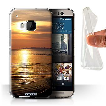 STUFF4 Gel/TPU Case/Cover für HTC One/1 M9/Meer/Sunset Landschaft