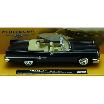 1:43 Scale Die-Cast Blue 1959 Chrysler 300E Convertible