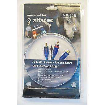 Alfatec MB-20B belechteter Y Adapter 1 female 2 plug with blue LED